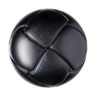 Button - Leather Effect Aran - Black - 22.5mm