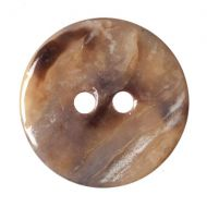Button - Shell - Natural - 15mm