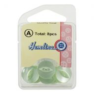 Button - Fish Eye - Lime Green - 13.75mm
