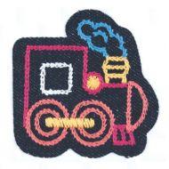 Embroidered Motif DENIM TRAIN