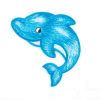 Embroidered Motif DOLPHIN