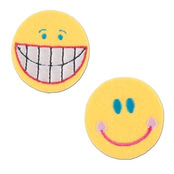 Embroidered Motif SMILEY FACES