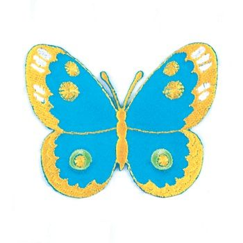 Embroidered Motif BLUE/ YELLOW BUTTERFLY
