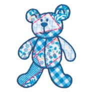 Embroidered Motif BLUE TEDDY