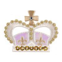 CF Motif Sequin Crown