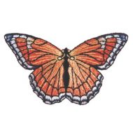 Embroidered Motif ORANGE BUTTERFLY