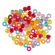 Clear Pony Beads 20g