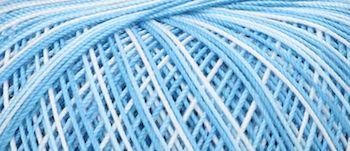 Puppets Eldorado No 10 Crochet Thread Variegated Pale Blue