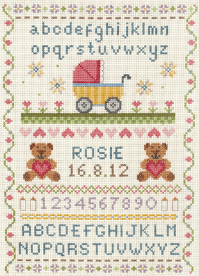 Anchor Classic Sampler Baby Record Cross Stitch Kit