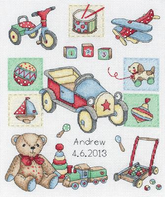 Anchor Boy Birth Record Cross Stitch Kit