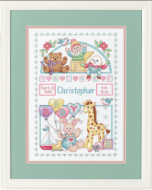 Dimensions For Baby Birth Record Cross Stitch Kit