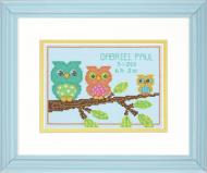 Dimensions Owl Mini Birth Record Cross Stitch Kit