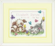 Dimensions Pet Friends Birth Record Cross Stitch Kit