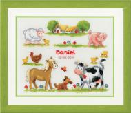 Vervaco Farm Animals Birt Record Cross Stitch Kit