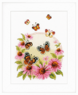 Vervaco Echinacea with Butterflies Cross Stitch Kit