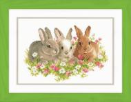 Vervaco Three Rabbits Cross Stitch Kit