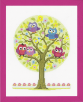 Vervaco The Owls Have It Cross Stitch Kit