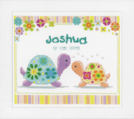 Vervaco Colourful Turtles Cross Stitch Kit