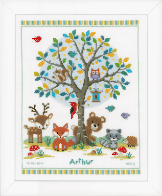 Vervaco In The Woods Cross Stitch Kit