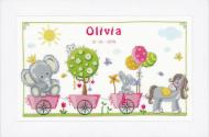Vervaco Cute Animal Parade Cross Stitch Kit