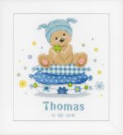 Vervaco Bear on Pillow Cross Stitch Kit