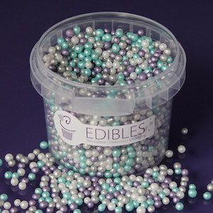 Purple Cupcake 4mm Frozen Pearls