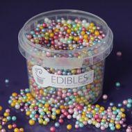 Purple Cupcake 4mm Rainbow Pearls