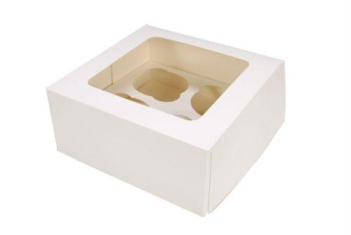 4 hole Cupcake Box