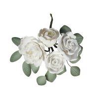 Wired Sugar Rose and Ranunculus Spray 145mm