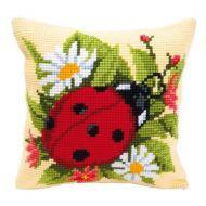 Cross Stitch Kit: Cushion: Ladybird by Vervaco