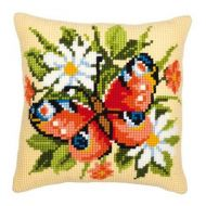 Cross Stitch Cushion Kit Butterfly by Vervaco