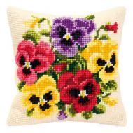 Cross Stitch Kit: Cushion: Pansy Posy by Vervaco
