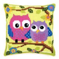 Cross Stitch Kit: Cushion: Owls by Vervaco