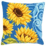Cross Stitch Cushion Kit Sunflowers by Vervaco