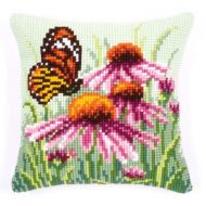 Cross Stitch Kit: Cushion: Daisy Butterfly by Vervaco