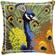 Cross Stitch Kit: Cushion: Peacock by Vervaco