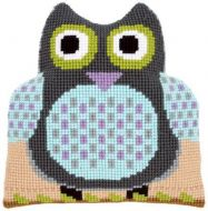Cross Stitch Kit: Cushion: Shaped: Owl by Vervaco