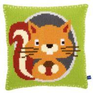 Cross Stitch Kit: Cushion: Squirrel by Vervaco
