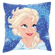 Cross Stitch Cushion Kit: Disney: Elsa by Vervaco