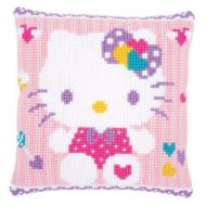 Cross Stitch Cushion Kit: Hello Kitty: Pastel by Vervaco