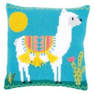 Cross Stitch Cushion Kit: Llama by Vervaco