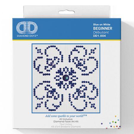 Diamond Dotz - Blue on White