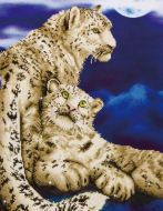 Diamond Painting Kit Snow Leopards