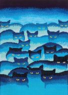 Diamond Painting Kit Smokey Mountain Cats