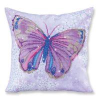 Diamond Painting Cushion Kit Papillon Mauve