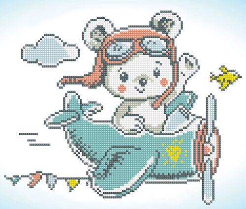 Diamond Painting Kit  Aero Bear