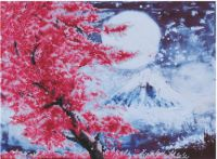 Diamond Painting Kit Cherry Blossom Mountain