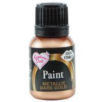Edible Food Paint 25ml - Dark Gold