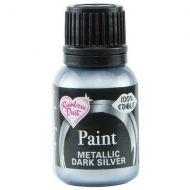 Edible Food Paint 25ml - Dark Silver
