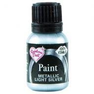 Edible Food Paint 25ml - Light Silver